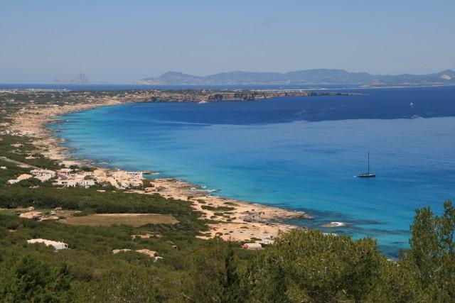 Formentera vanaf het (almost) hoogste punt op het eiland
