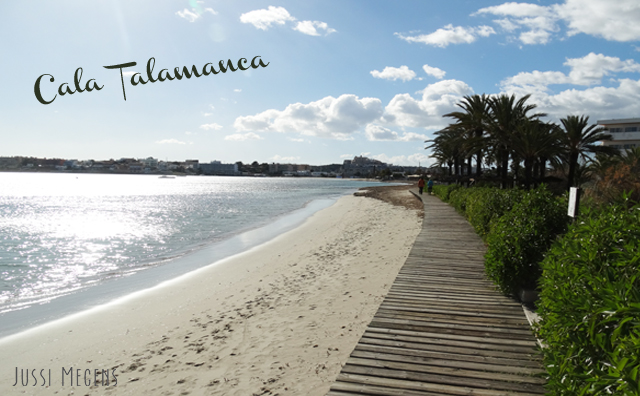 Talamanca, Ibiza. The biggest beach close to Ibiza town with loads of facilities!